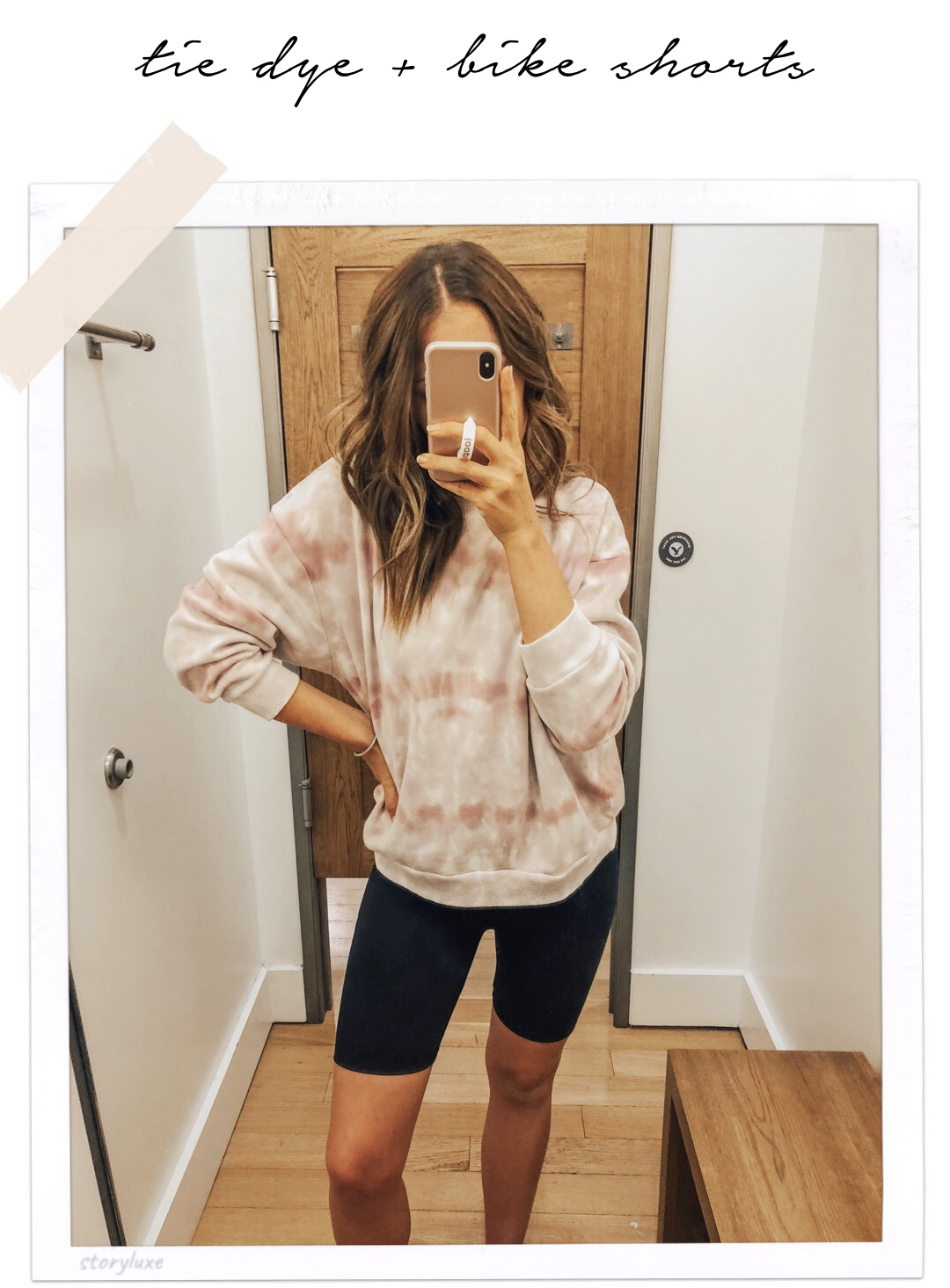 bike-shorts-tie-dye-sweatshirt