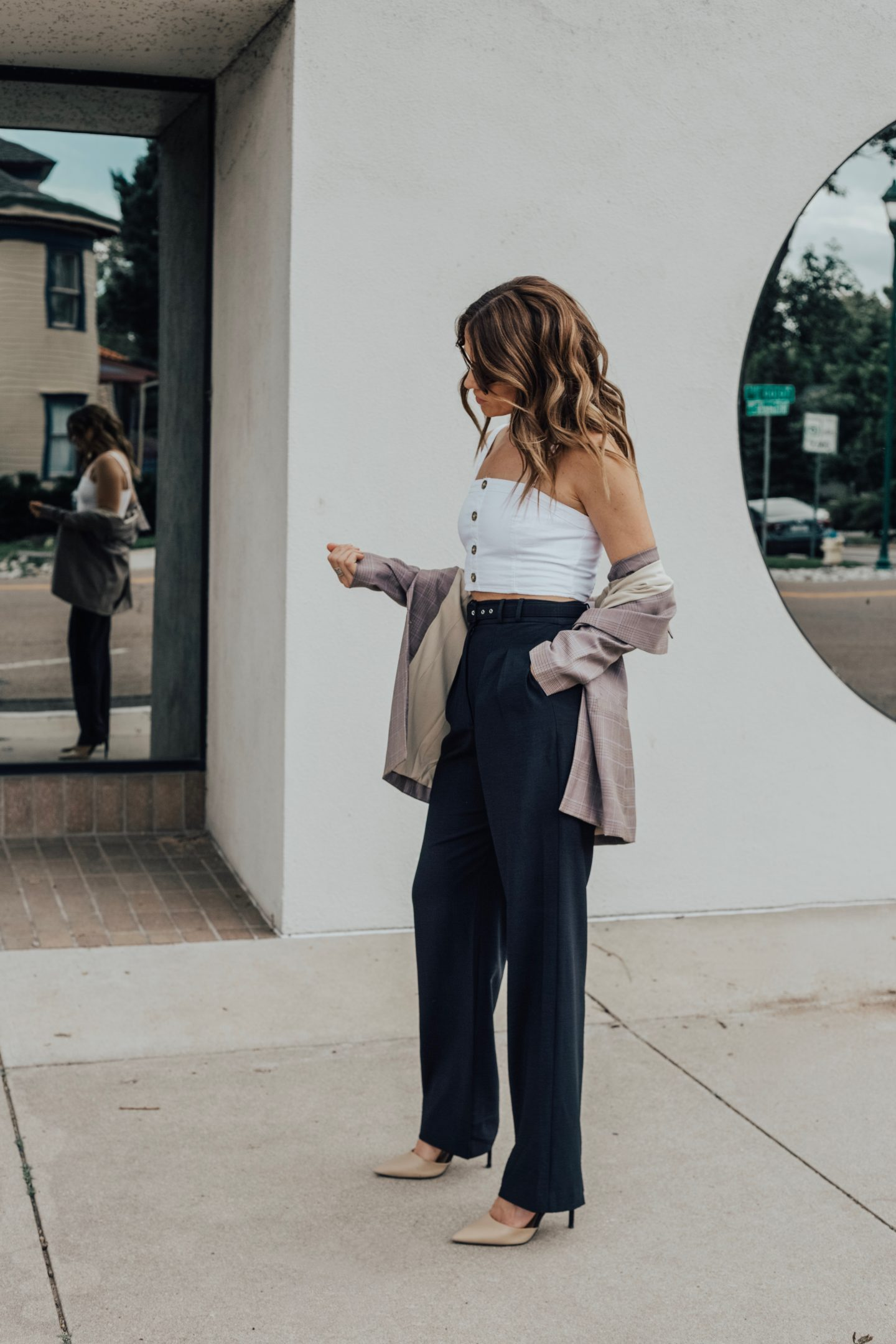 blazer wide leg pants